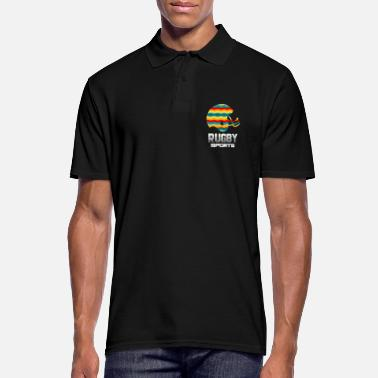 Yourself Rugby Sports Equipment Retro Art Gift - Men's Polo Shirt