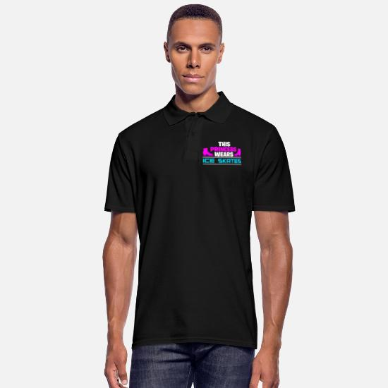 Gift Idea Polo Shirts - Skating figure skating - Men's Polo Shirt black