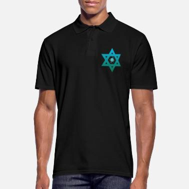 Star of David Jew star gift - Men's Polo Shirt