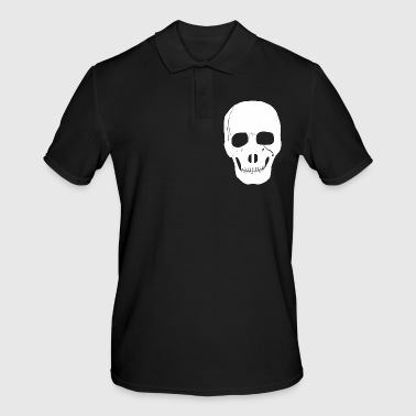 Skull, Satan, skeleton, head, - Men's Polo Shirt