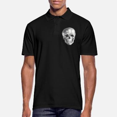 Skull Skull - skull - skull black white - Men's Polo Shirt