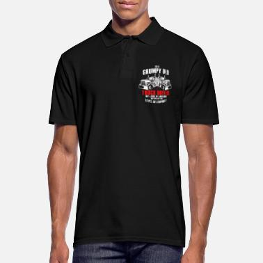 55358a06cf Truck driver old man grandpa diesel highway - Men's Polo Shirt
