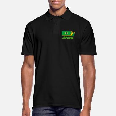 Primatista Brazil Flags Design / Gift National - Polo da uomo