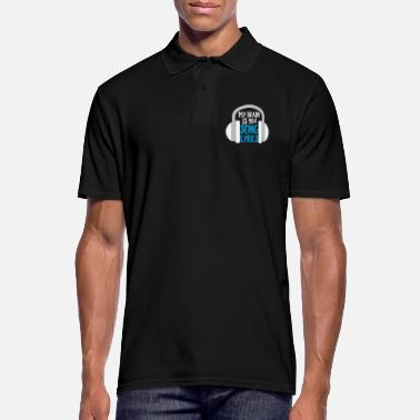 Funnynager My Brain is 90% Song Lyrics - Men's Polo Shirt
