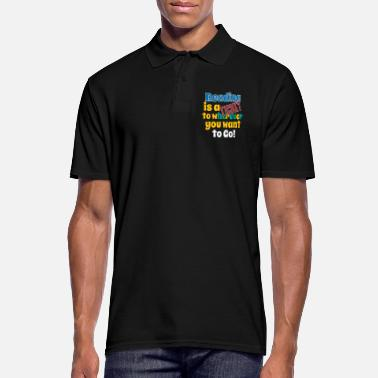 Ticket Reading Is A Ticket - Men's Polo Shirt