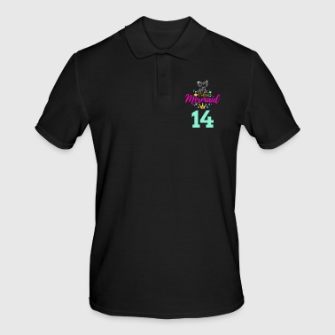 Fantasy 14 Birthday Girl Six 14th Birthday Boy Girl Kids - Men's Polo Shirt