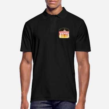 Berlin Germany Berlin flag flag Brandenburg Gate - Men's Polo Shirt