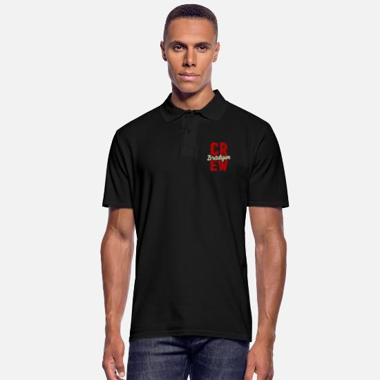 Bachelor Party Polo Shirts - Groom crew bachelor party - Men's Polo Shirt black