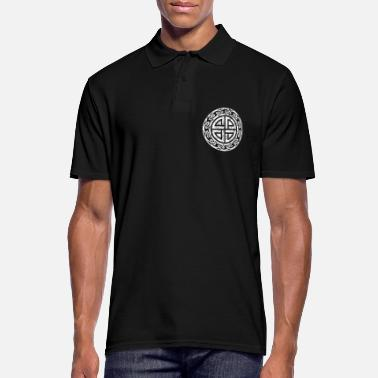 Heavy Shield knot Celtic symbol sign shapes - Men's Polo Shirt