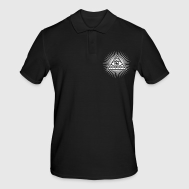 All-seeing eye triangle Masonic occult icon - Men's Polo Shirt