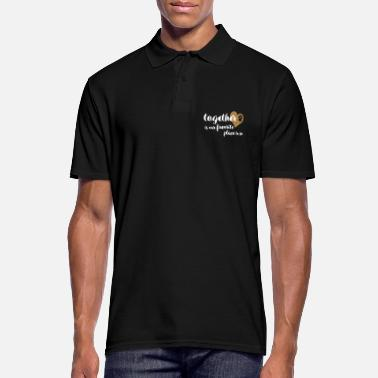 Together is our favorite place to be - dog love - Men's Polo Shirt