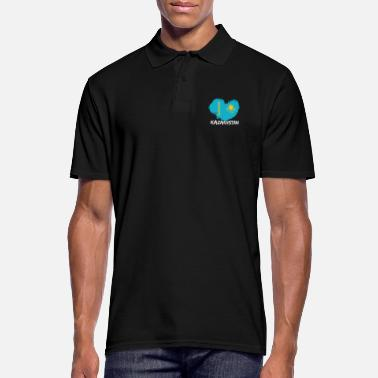 Kazakhstan Heart Kazakhstan heart love gift - Men's Polo Shirt