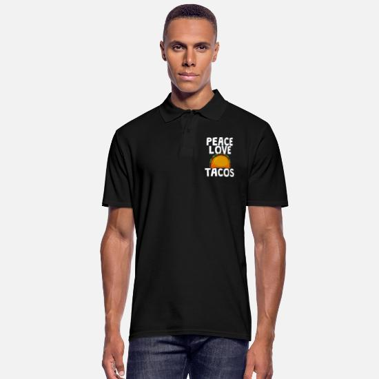 Mexican Polo Shirts - tacos - Men's Polo Shirt black