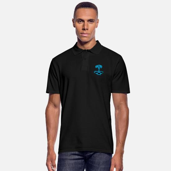 Away Polo Shirts - Silhouette Justice Light Blue and Black Umri - Men's Polo Shirt black