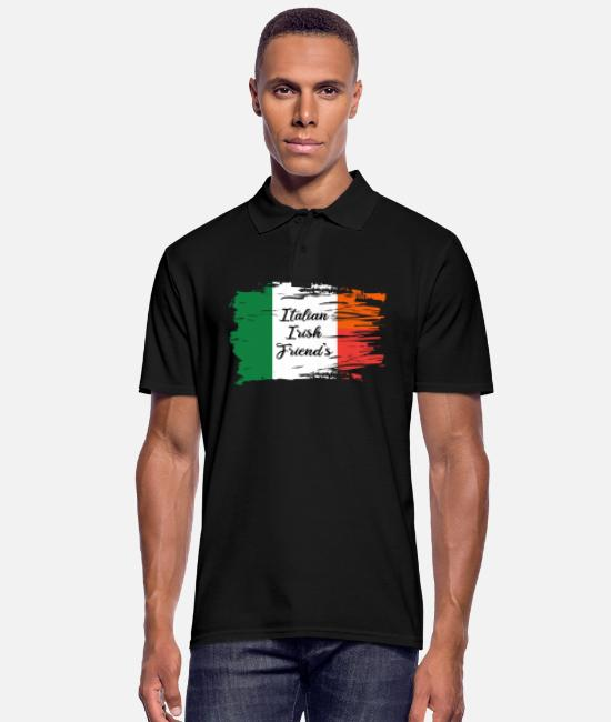 Italian Polo Shirts - Italian Irish Friends - Men's Polo Shirt black