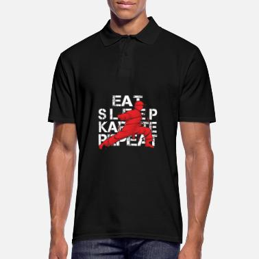 Martial Artist Eat Sleep Karate Repeat Fighter Martial Arts - Men's Polo Shirt