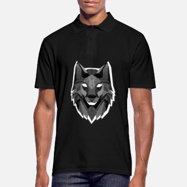 Design Wolf Head Wolves Pack Alpha Carnivore Mammals Fur - Men's Polo Shirt