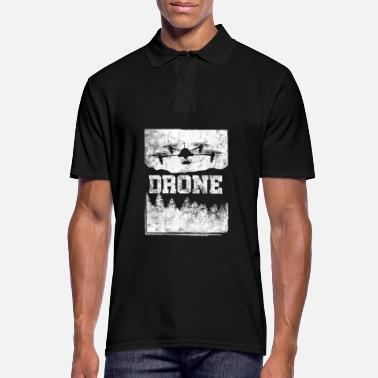 Ground Pilot Drone Aerial Vehicle Aircraft Drone Pilot Ground - Men's Polo Shirt