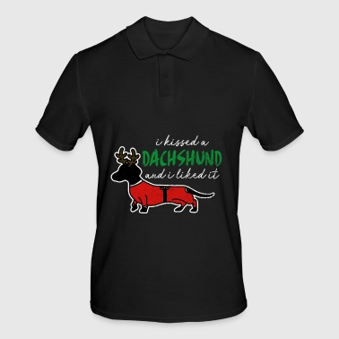 Wolf Dachshund rescue dog pet wolves chasing gift - Men's Polo Shirt