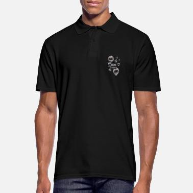 Air Bubbles Love is in the air soap bubbles gift wedding - Men's Polo Shirt