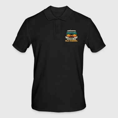 Ouderwetse Keeping It Old School Boombox Music Nostalgia Gift - Mannen poloshirt