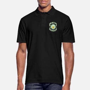 St Patrick's Day 0% Irish 100% Drunk Distressed - Men's Polo Shirt