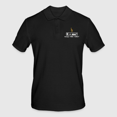 energy milk coffee - Men's Polo Shirt