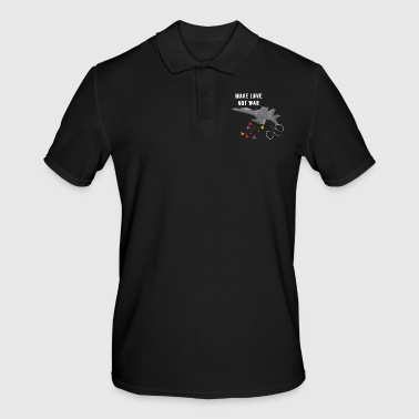 Make love not was fighter jet bombing flowers - Men's Polo Shirt