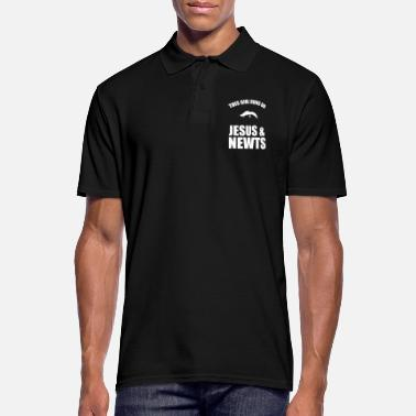 Newt This Girl Runs On Jesus And Newts - Men's Polo Shirt