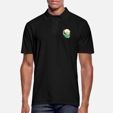 Cleaning Lady CAT PLANET Earth - Men's Polo Shirt