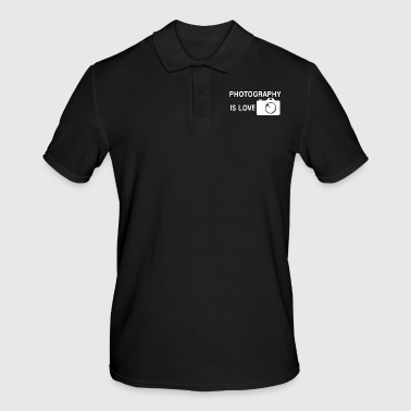 Photographer Photography is love photo profession - Men's Polo Shirt