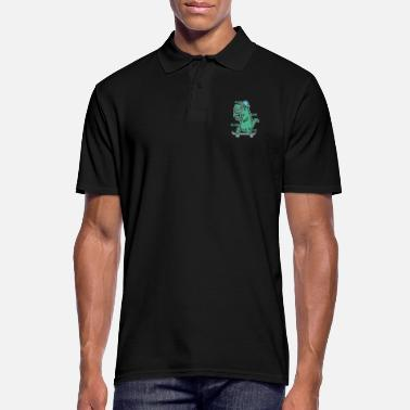 T-rex Dino Tyrannosaurus on the skateboard - Men's Polo Shirt