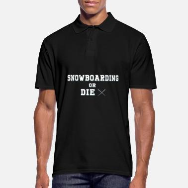 Nat Snowboarden of THE X - Mannen poloshirt