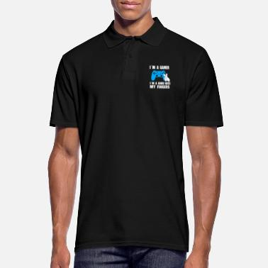 Gamer I M A GAMER I M GOOD WITH MY FINGERS - Poloshirt mænd
