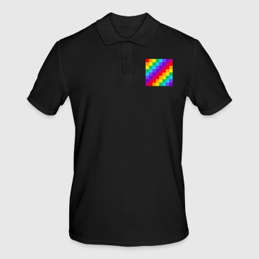 checkerboard rainbow - Men's Polo Shirt