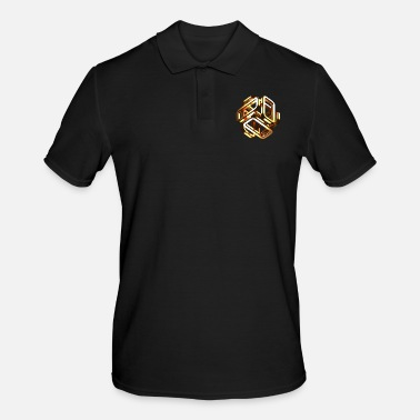 Gold gold cubes - Men's Polo Shirt