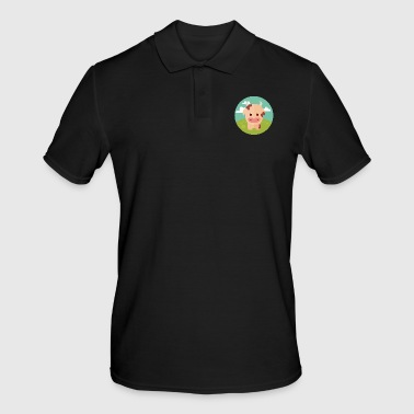 Cow on meadow - Men's Polo Shirt