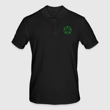 Circle star green - Men's Polo Shirt