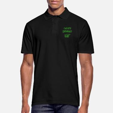 St I m With Drunkass T - Männer Poloshirt