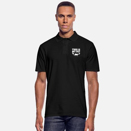Love Polo Shirts - This big cat is my pet love to the animal - Men's Polo Shirt black