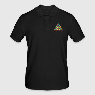 Colored Triangle - Men's Polo Shirt