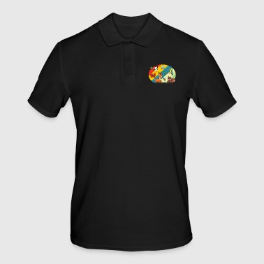Retro vintage roe deer squirrel duck butterfly - Men's Polo Shirt