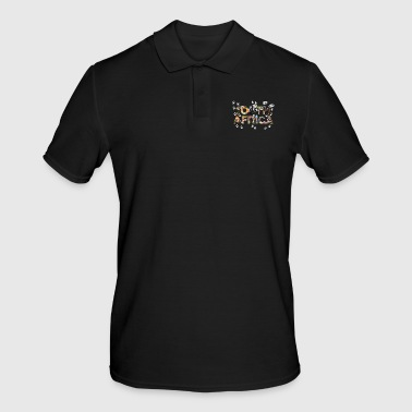 South SOUTH AFRICA - Animal pictures Letters with footprints - Men's Polo Shirt