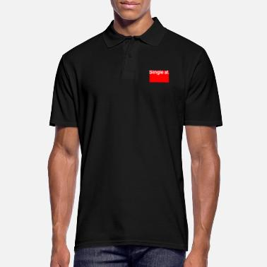 Anti Valentine Single AF for anti Valentines - Men's Polo Shirt