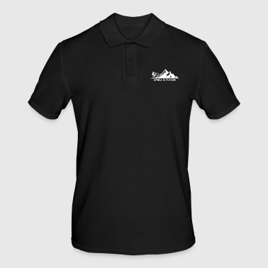uphill is future - Men's Polo Shirt