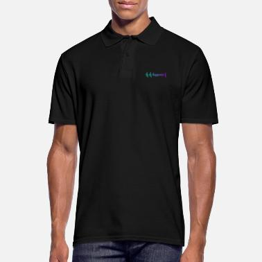 Happiness HEARTBEAT HAPPINESS GRADIENT BLUE PURPLE - Männer Poloshirt
