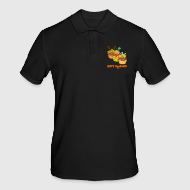 Skull And Bones Halloween horror cupcakes muffins - Men's Polo Shirt
