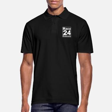 Le Mans Race24 Logo - White - Men's Polo Shirt