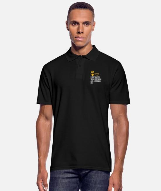 Lazy Polo Shirts - I Only Want To Wear Underwear And A Crown - Men's Polo Shirt black