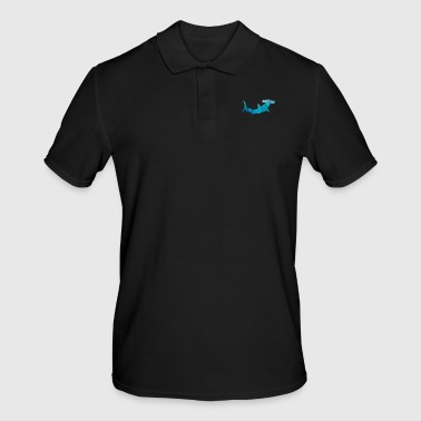 Head Shark gift hammerhead fish sea son zoo contour - Men's Polo Shirt